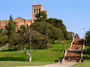 Janss Steps, Royce Hall in background, UCLA