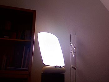 Light Therapy Lamp (in use), type Philips HF33...