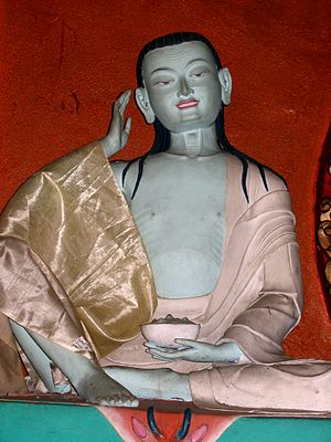 Statue of Milarepa, from Milarepa's Gompa in t...