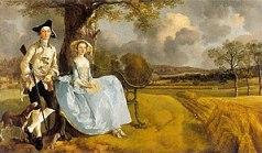 Gainsborough's Mr and Mrs Andrews (1748-49), i...