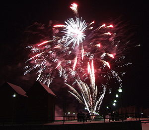 The New Year's Eve fireworks in Oulu