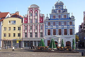 English: Facades of new buildings in Szczecin'...