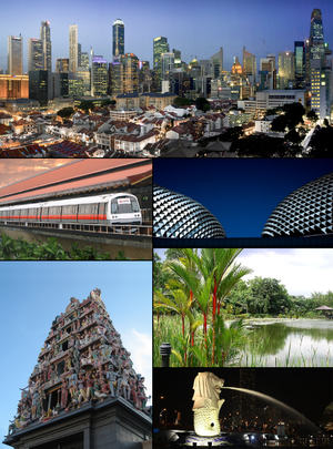 English: A montage of various Singapore images.
