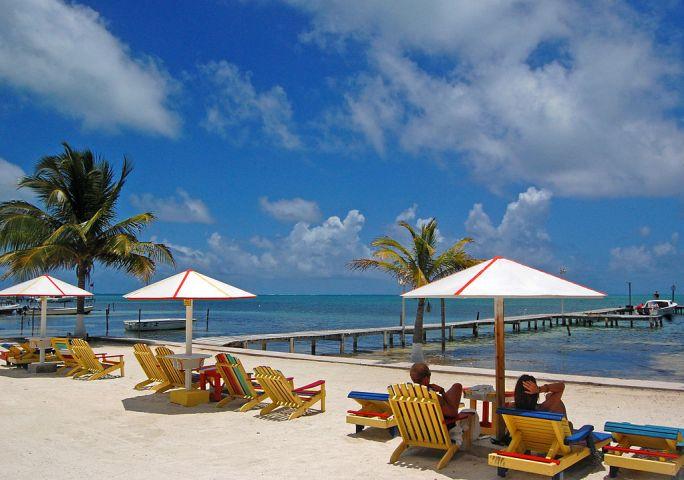 Waterfront in Caye Caulker, Belize