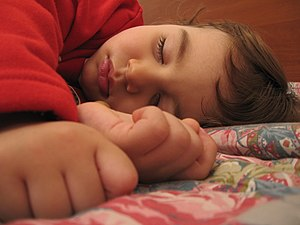 A child sleeping.