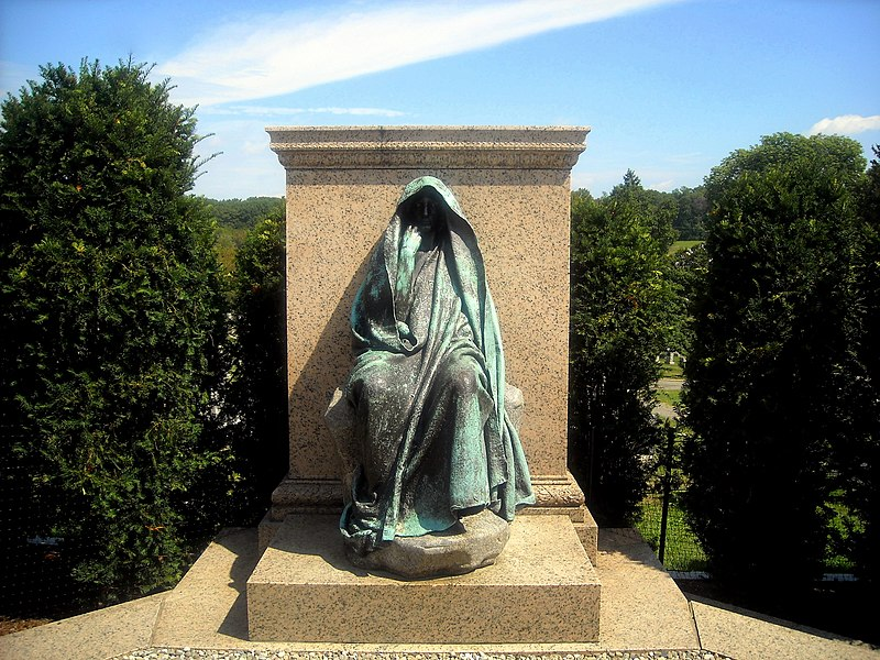 The Peace of God, also known as the Adams Memorial or Grief, sculpted by Augustus Saint-Gaudens in 1891 and located in Rock Creek Cemetery, Washington, D.C.