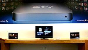 Apple TV on display, Apple Store Chicago