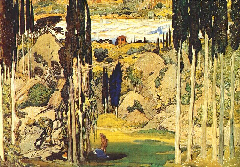 File:Bakst Daphnis et Chloë Set Act II 1912.jpg