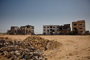 English: Damaged housing, Gaza Strip, April 2009