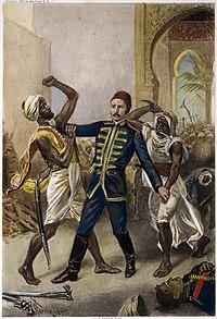 Death of General Gordon at Khartoum, by J.L.G. Ferris.jpg