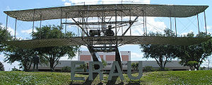 The Wright Flyer statue at Embry-Riddle Aerona...