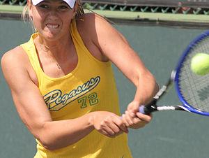 Maria Sharapova practicing in Indian Wells, Ca...