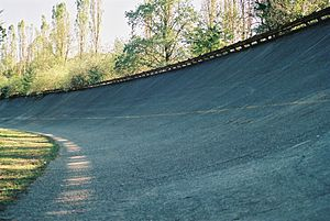 English: The surviving banking at the Autodrom...