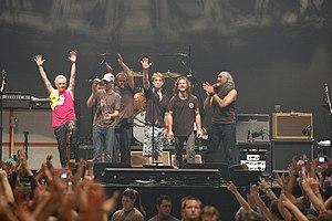 Pearl Jam koncert 2006-ban a bécsi Stadthalle-...