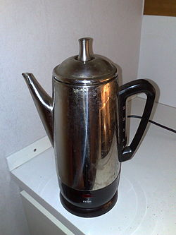 a coffee percolator, made obsolete by drip coffee makers