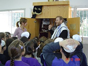 Rabbis Lesson with kids