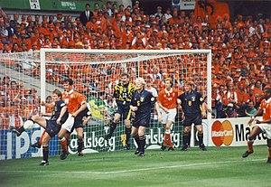 Scotland versus Holland match at the 1996 Euro...