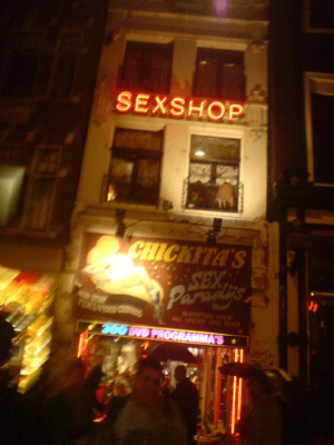 A sex shop in Amsterdam, the Netherlands
