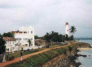 The fort of Galle in southern Sri Lanka, first...