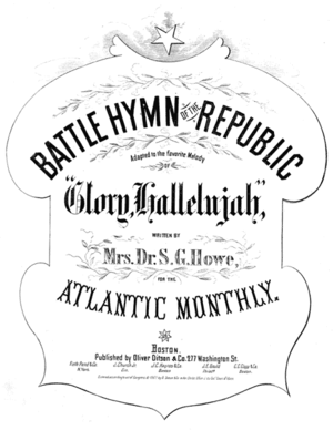 """Cover of sheet music for """"The Battle Hymn..."""