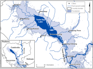 Map of the Tonle Sap Lake in Cambodia / Source: Wikipedia