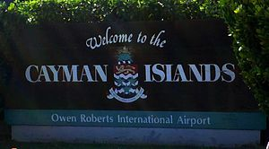 English: Welcome sign at Owen Roberts Internat...