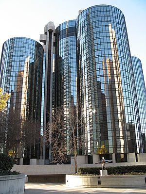 English: Westin Bonaventure Hotel as seen from...