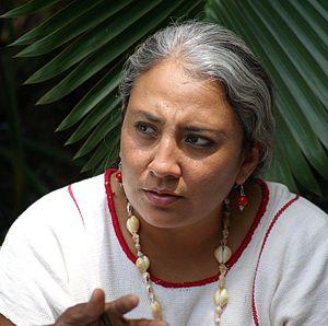 Español: Yesica Sanchez Maya, defensora de der...