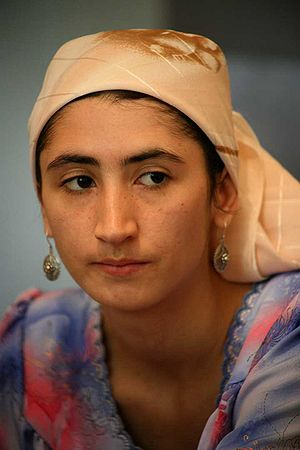 A young woman from Tajikistan in 2007.