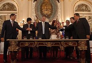 Presidentes de varios países firman el Acta Fu...