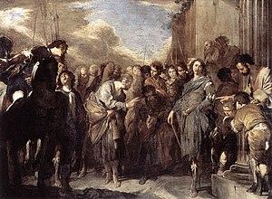 Bernardo Cavallino - St Peter and Cornelius th...