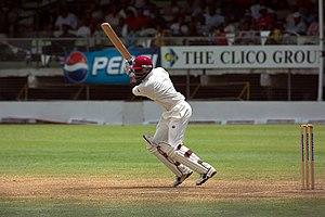 English: Brian Lara batting for West Indies ag...