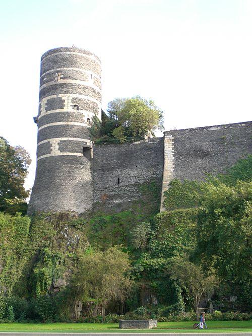 Château angers tour rempart