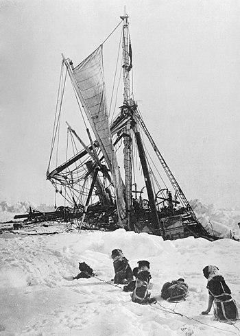 Endurance final sinking in Antarctica