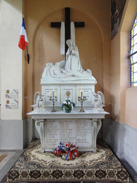 Fichier: Forest-en-Cambrésis (Nord, Fr) église mon aux morts pietá.jpg