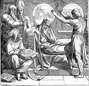 Foster Bible Pictures 0052-1 Joseph Explains t...