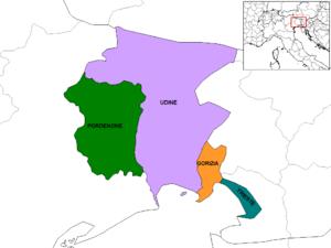 Provinces of Friuli–Venezia Giulia