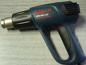 English: Bosch GHG 660 LCD heat gun Polski: Op...