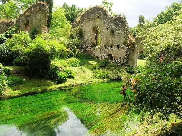 Ruins in the Gardens of Ninfa