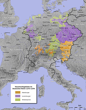 The Holy Roman Empire from 1273 to 1378. ---- ...