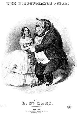 The cover of the Hippopotamus Polka. The unlik...