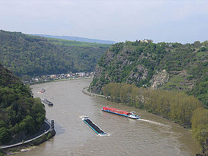 The Rhine at the Loreley