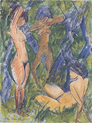 Otto Mueller - Drei weibliche Akte - ca1920