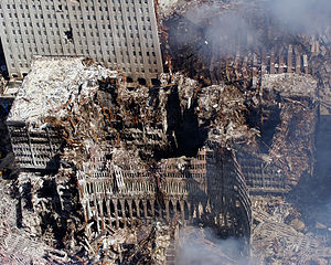 The remains of 6 World Trade Center, 7 World T...