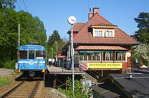 Train station of Saltsjöbanan in Solsidan outs...