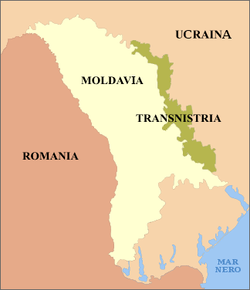 Transnistria - Mappa