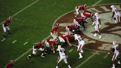 Alabama on offense during the annual Iron Bowl...