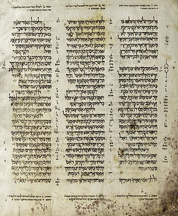 The Aleppo Codex is a medieval manuscript of t...