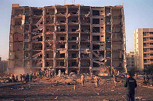 Khobar Towers bombing in Dhahran, Saudi Arabia...