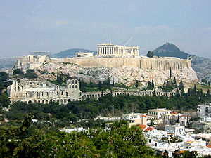 The Parthenon, on the Acropolis of Athens, Greece.